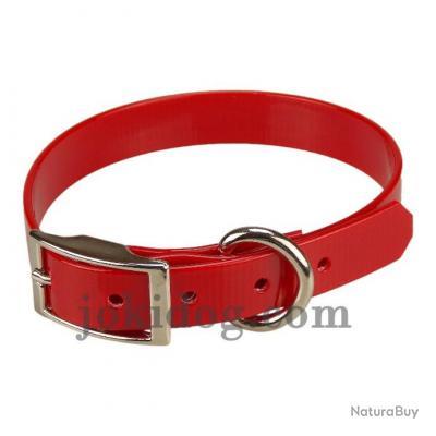 collier Gravé HUNT US 19 x 45 cm rouge - biothane - jokidog