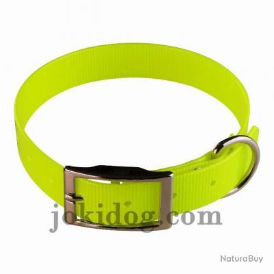 collier HUNT US 25 x 55 cm jaune - biothane - jokidog
