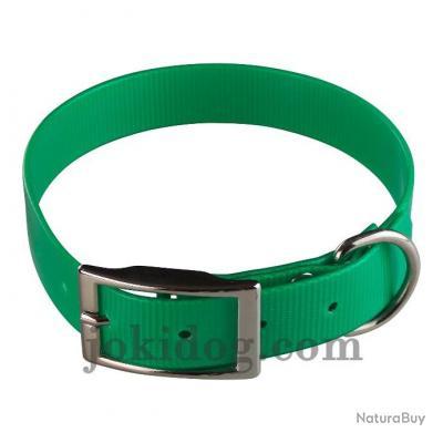 collier HUNT US 25 x 55 cm vert foncé - biothane - jokidog
