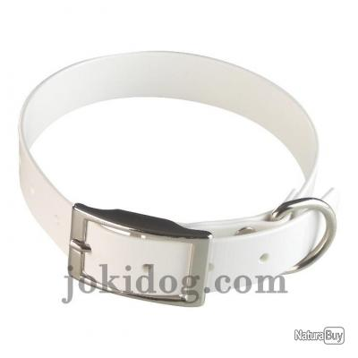 collier HUNT US 25 x 60 cm blanc - biothane - jokidog