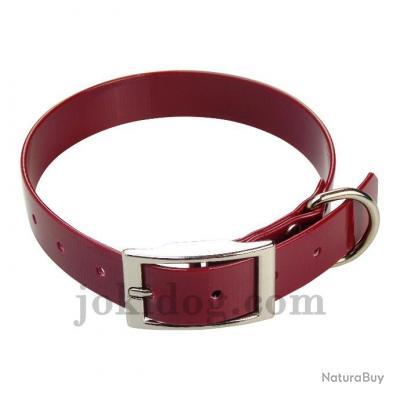 collier HUNT US 25 x 60 cm bordeaux - biothane - jokidog