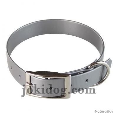 collier HUNT US 25 x 60 cm gris - biothane - jokidog
