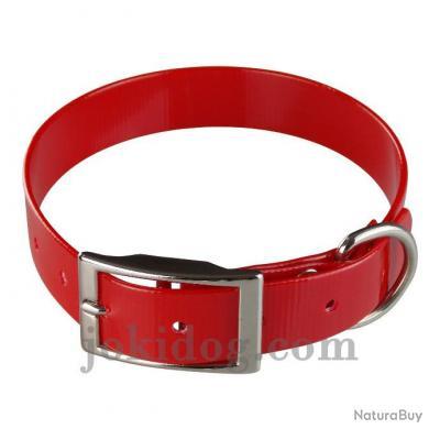 collier Gravé HUNT US 25 x 55 cm rouge - biothane - jokidog
