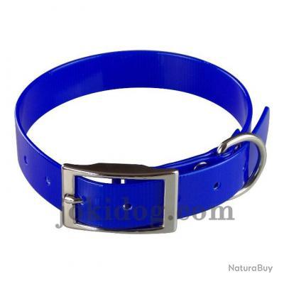 collier Gravé HUNT US 25 x 55 cm bleu roi - biothane - jokidog