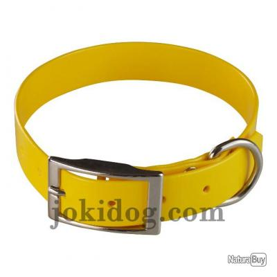 collier Gravé HUNT US 25 x 55 cm jaune oeuf - biothane - jokidog