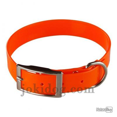 collier Gravé HUNT US 25 x 60 cm Orange - biothane - jokidog