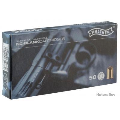 Boîte de 50 cartouches 9 mm RK à blanc pour revolver
