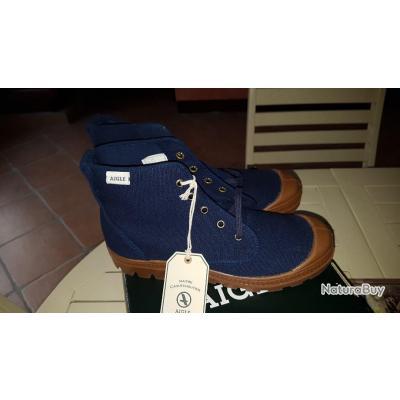 Bleu Marine Aigle Toile Chaussures Montantes Arizona BWxoQdCreE