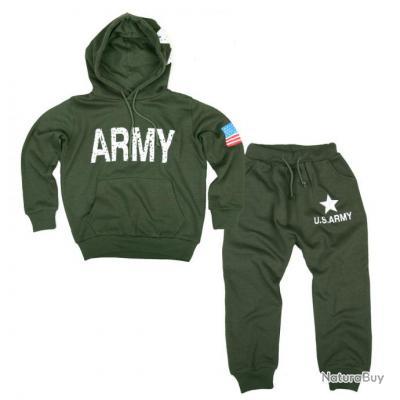 Survêtement pour enfant : Army - kaki - taille