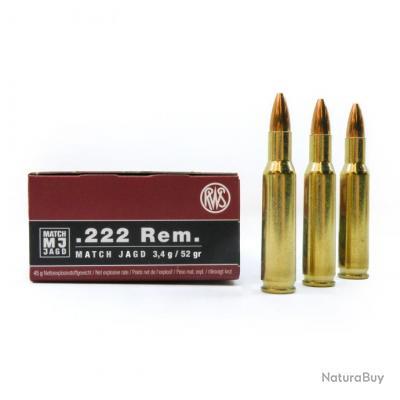 .222 Rem., Match Jagd (3,37gr) (Calibre: .222 Rem.)
