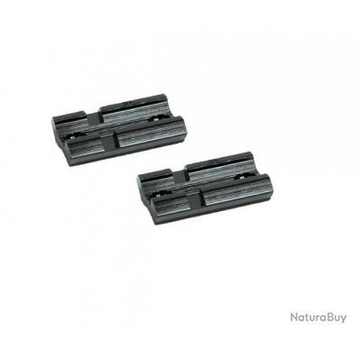 Lot de 2 embases 21mm courtes type Weaver avec vis Mini Mauser N°23 et 71A