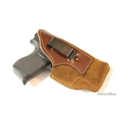 VALGANCH - holster cuir - droitier- port inside pour GLOCK 43