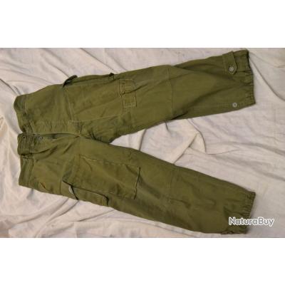 Pantalon militaire Armée Française modèle 1947 modifié parachutiste TAP ?  Indochine