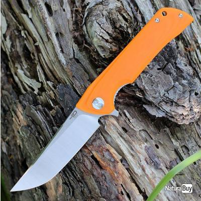 Couteau Bestech Paladin 13C-2 Orange Lame Acier D2 Manche G-10 Linerlock Clip BTKG13C1