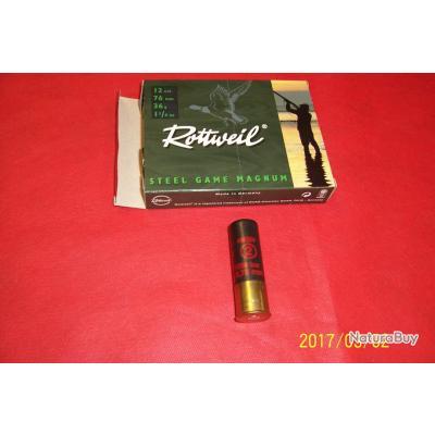 Cartouches calibre 12 Rottweil, steel game magnum, cartouches idéales pour les canards.
