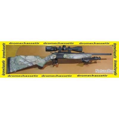 Carabine Kipplauf Bergara, cal 222 remington, canon 51cm filetée, camo, lunette 3-9x40 et bipied