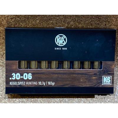 1 BOITE DE MUNITION GRANDE CHASSE RWS 30-06  KS 10.7 gr
