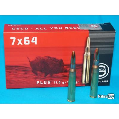 Munition Geco Plus, Calibre 7x64