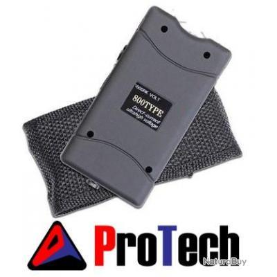 Shocker Taser PROTECH + Lampe LED intégrée + Etui Holster 5.000.000 Volts