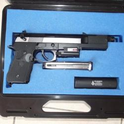 Pistolet Airsoft Gemtech Oasis Gaz Fixe 1,6 Joule avec