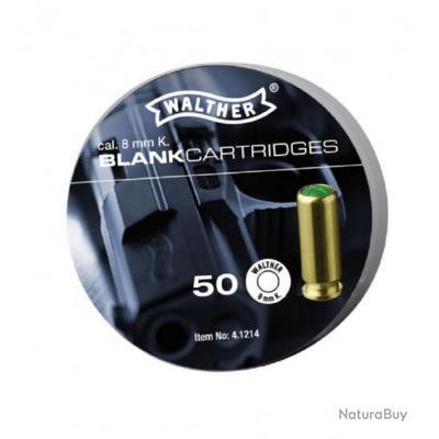 X 50 Walther Balles à blanc 8mm K.