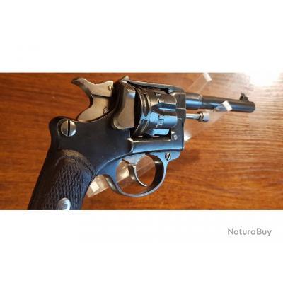 Beau revolver modèle 1892 civil, Lamure & Gidrol à St Etienne, premier type, cal 8,92mm