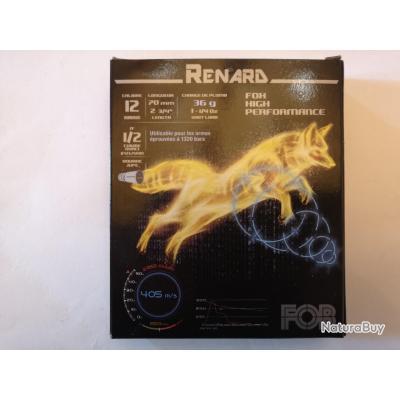 1 boîte de cartouches FOB Renard High Performance plomb N°1+2 SUPER PRIX !!!