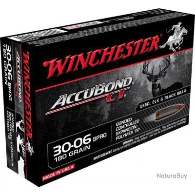 Munitions Winchester Cal.30-06 Accubond CT 180gr 11.66g par 100