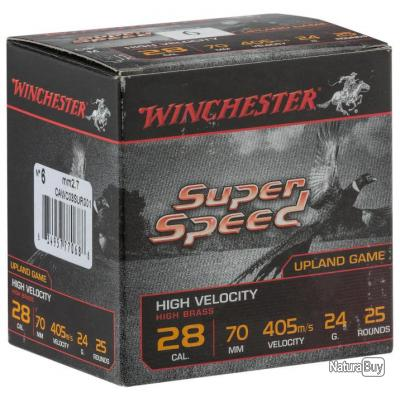 LOT DE 10 BOITES DE CARTOUCHES WINCHESTER SUPER SPEED cal 28/70 culot de 15 n°6  et 7,5