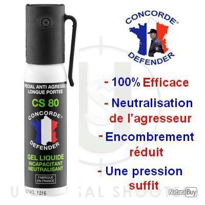 Aérosol Gel Incapacitant et neutralisant Cs 25ml