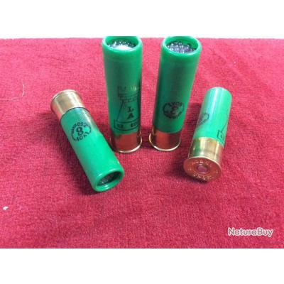 Boite de 10 munitions LATOUR 32g bourre grasse Cal.16x70 (Plombs de Lyon n°8)