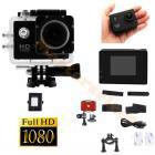 MINI CAMERA EMBARQUEE SPORT AVEC BOITIER ETANCHE 30m HD 1080 HD1080 ENREGISTREMENT MICRO SD
