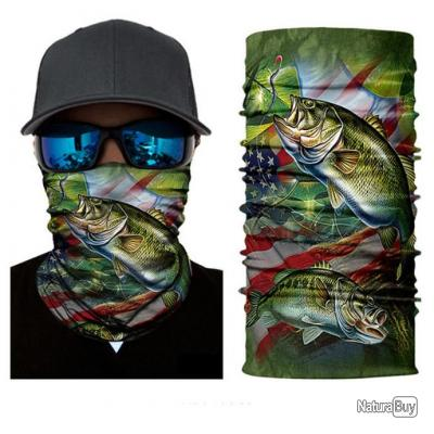 Tour de cou bandana respirant anti UV Modèle American Bass ... 256f2cb8297
