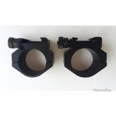 Paire De Colliers Vortex Tactical Low Diam 30 Colliers Pour