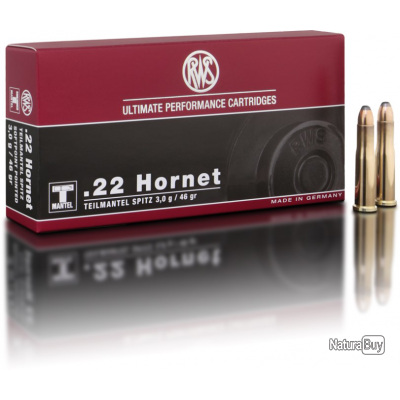 Munitions RWS, Calibre 22 Hornet, TMS