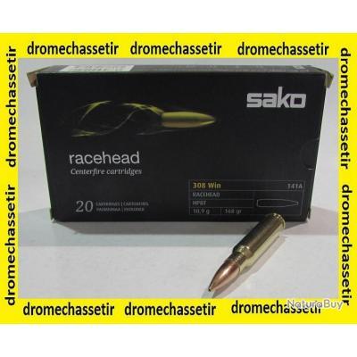 1boite neuve de 20 cartouches  de calibre 308 Winchester , SAKO RACEHEAD, 168grs