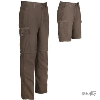 Pantalon Transformable GUERNSEY Marron