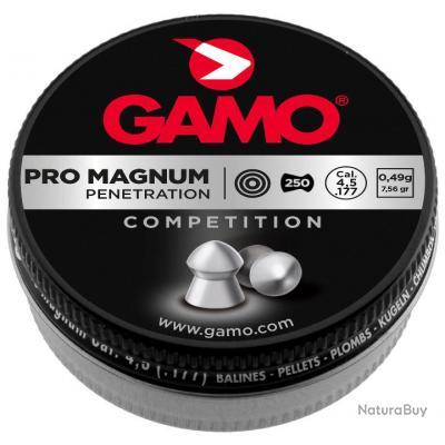 Lot de 5 Boites de 250 Plombs perforants GAMO Pro Magnum Cal. 4.5mm - 1250 Plombs
