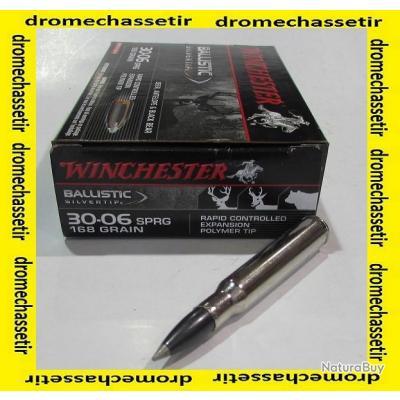 1 boite neuve de 20 cartouches  de calibre 30-06, Winchester, ogive Ballistic Silvertip 168 grs