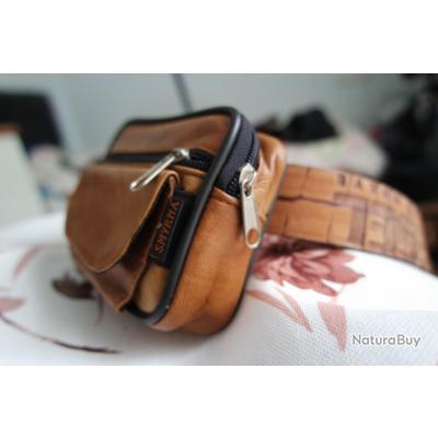 Sac en cuir fait main, mini sac de ceinture, étui en cuir,pochette ... 44b913f7dea