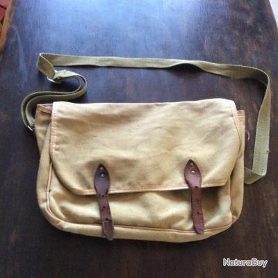 Sacoche de chasse en tissu avec deux poches