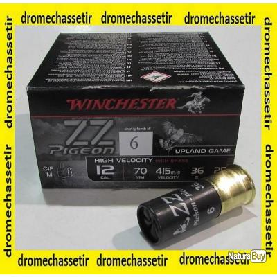 lot de 250 cartouches Winchester ZZ Pigeon , cal 12/70  bourre jupe , 36 grammes, Numero 6