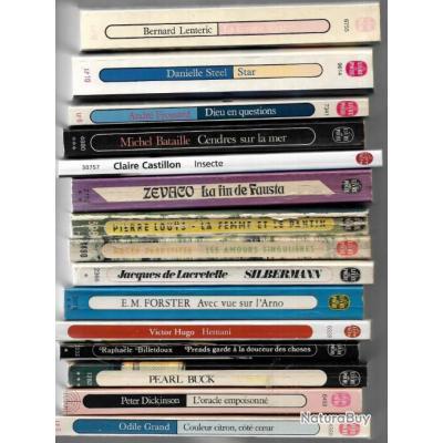 livres de poche avant destruction lot surprise  de 25 titres divers , préparez vos vacances !