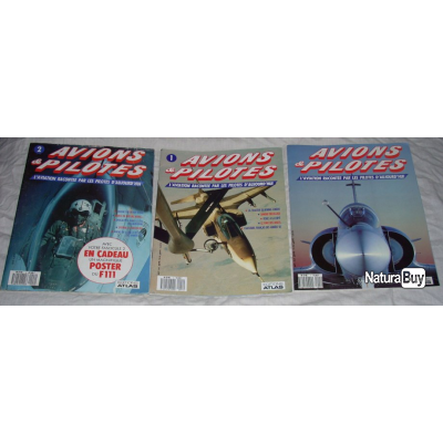 3 Livres Avions Et Pilotes