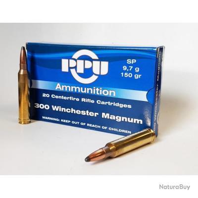 100 Munitions 300Win Mag 150Gr SP utilisable à la chasse! PROMO PARTIZAN !