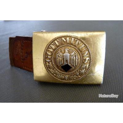WW II   Boucle de ceinture Allemande KM - Ceinturons et brelages ... 26d15b9c618