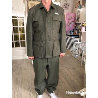 Uniforme Complet Pantalon Veste Allemand Laine Heer M43 Ww2