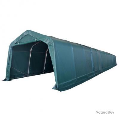 Tente portable pour bétail PVC 3,3 x 16 m Vert foncé - Abris de ...