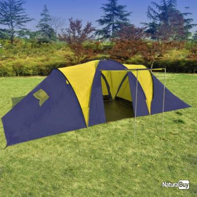 e77fb9d0d4c21 Tente de camping 9 personnes Bleu et Jaune - Tentes (5053103)