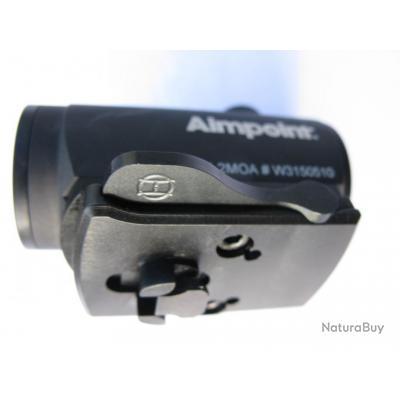 Montage Aimpoint Micro H sur embase de pivot avant